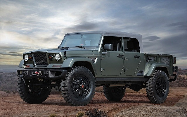 2018 Jeep Wrangler Pickup Truck - front