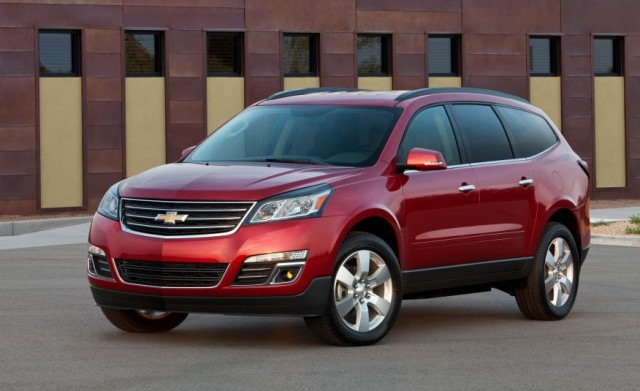 2018 Chevy Traverse front