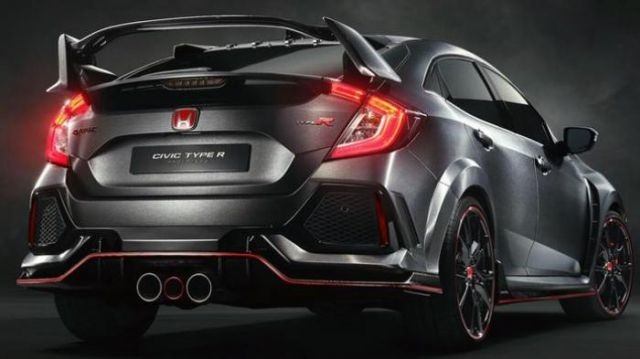 2018 Honda Civic Type R - rear